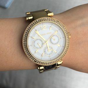 MICHAEL KORS gold-toned watch